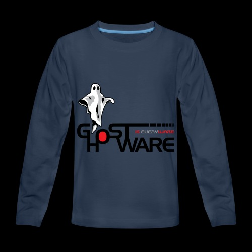 Ghostware Wide Logo - Kids' Premium Long Sleeve T-Shirt