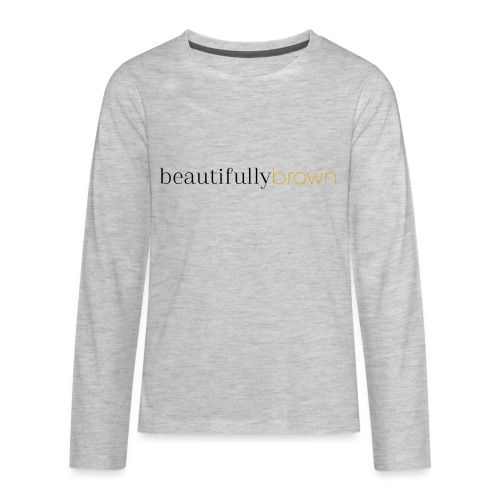 beautifullybrown - Kids' Premium Long Sleeve T-Shirt