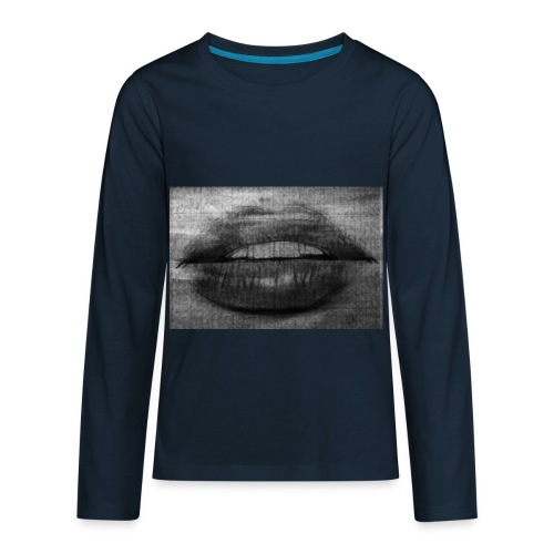 Blurry Lips - Kids' Premium Long Sleeve T-Shirt