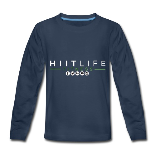 hlfsocialwht - Kids' Premium Long Sleeve T-Shirt