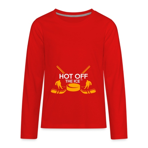 Hot Off The Ice - Kids' Premium Long Sleeve T-Shirt