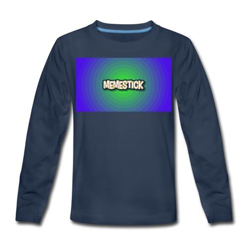 memestick symbol - Kids' Premium Long Sleeve T-Shirt