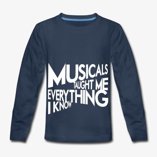 MTMEIK White Logo - Kids' Premium Long Sleeve T-Shirt