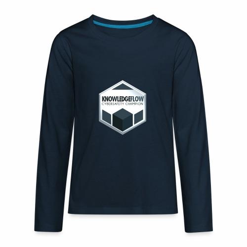 KnowledgeFlow Cybersafety Champion - Kids' Premium Long Sleeve T-Shirt