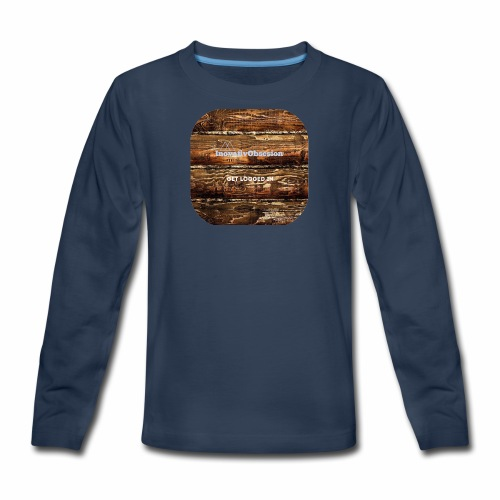 "InovativObsesion ""LOGGED IN"" apparel - Kids' Premium Long Sleeve T-Shirt"