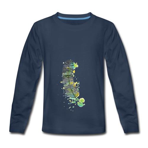 Geometric Feather - Kids' Premium Long Sleeve T-Shirt