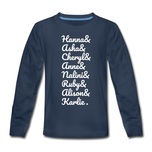 #MathsGals for Australia Fire Relief (White Text) - Kids' Premium Long Sleeve T-Shirt
