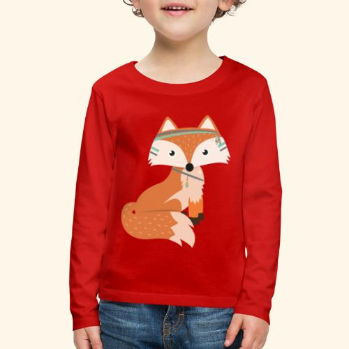 Felix Fox - Kids' Premium Long Sleeve T-Shirt
