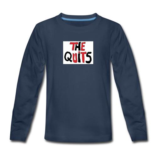 quits logo - Kids' Premium Long Sleeve T-Shirt