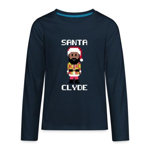 Santa Clyde So Fly (8-Bit) - Kids' Premium Long Sleeve T-Shirt