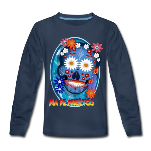 Day Of The Dead. October 31 and leave on November - Kids' Premium Long Sleeve T-Shirt