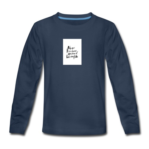 Throw kindness around - Kids' Premium Long Sleeve T-Shirt
