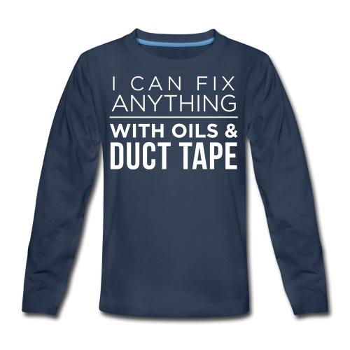 Oils And Duct Tape (Black Font) - Kids' Premium Long Sleeve T-Shirt
