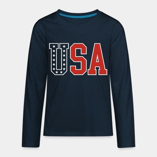 usa united states america - Kids' Premium Long Sleeve T-Shirt
