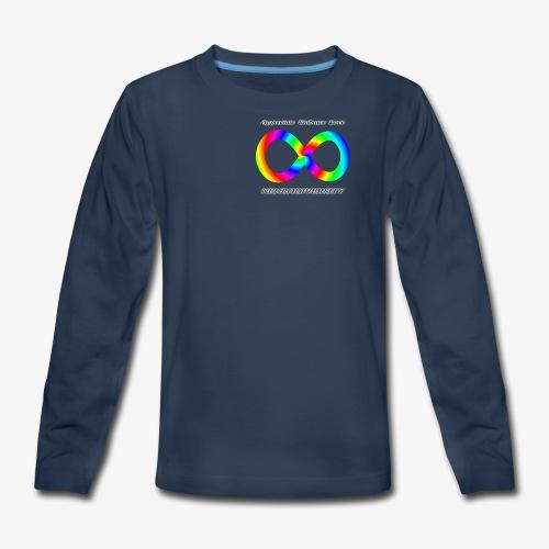 Embrace Neurodiversity with Swirl Rainbow - Kids' Premium Long Sleeve T-Shirt