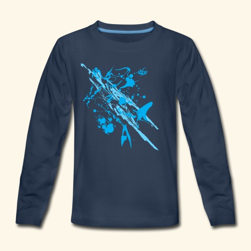 Blue Splash - Kids' Premium Long Sleeve T-Shirt