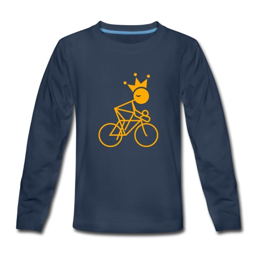 Winky Cycling King - Kids' Premium Long Sleeve T-Shirt