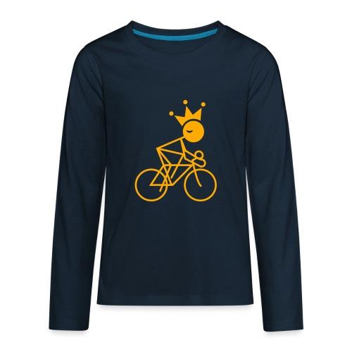 Winky Cycling King - Kids' Premium Long Sleeve T-Shirt