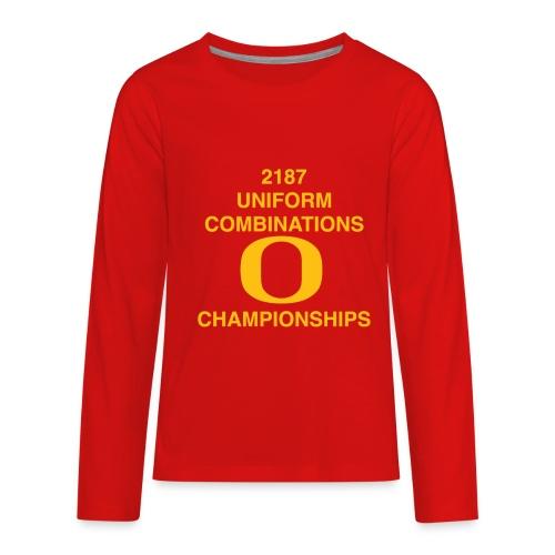 2187 UNIFORM COMBINATIONS O CHAMPIONSHIPS - Kids' Premium Long Sleeve T-Shirt