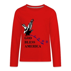 CUSTOM DESIGN GOD BLESS AMERICA - Kids' Premium Long Sleeve T-Shirt