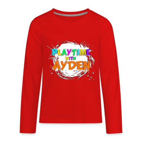 Playtime with Ayden - 1st edition - Red T-shirt - Kids' Premium Long Sleeve T-Shirt