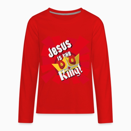 Jesus is the King (Kids) - The Armoury Boardgame - Kids' Premium Long Sleeve T-Shirt