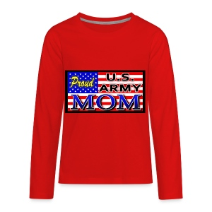Proud Army mom - Kids' Premium Long Sleeve T-Shirt