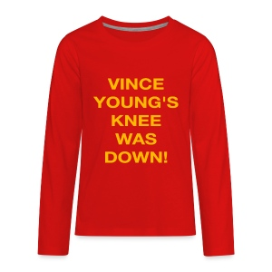 Vince Young's Knee Was Down - Kids' Premium Long Sleeve T-Shirt