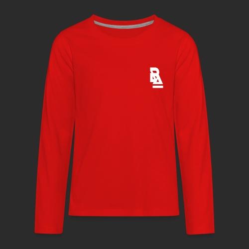 White Official BlizzardArtz Logo - Kids' Premium Long Sleeve T-Shirt