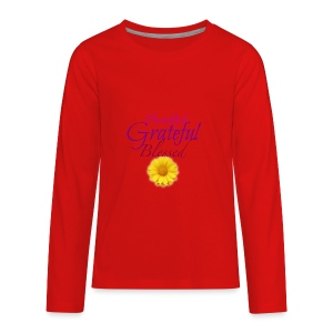 Thankful grateful blessed - Kids' Premium Long Sleeve T-Shirt