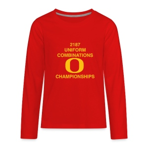 2187 UNIFORM COMBINATIONS O CHAMPIONSHIPS - Kids' Premium Long Sleeve T-Shirt