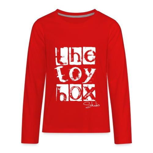 The Toy box Studio - White Logo - Kids' Premium Long Sleeve T-Shirt
