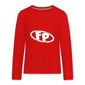 Secondary FRESHPOPCORN Logo - Kids' Premium Long Sleeve T-Shirt