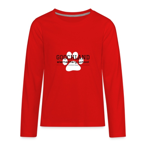 GES PTA White Pawprint - Kids' Premium Long Sleeve T-Shirt