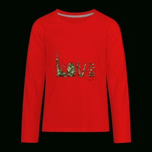 Love and War - Army - Kids' Premium Long Sleeve T-Shirt