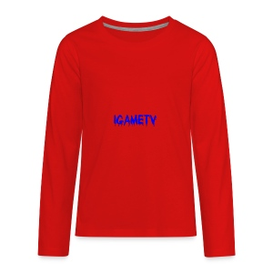 IGAME TV BLUE EDITION - Kids' Premium Long Sleeve T-Shirt