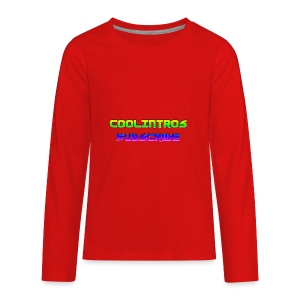 Cool Intros With Subscribe - Kids' Premium Long Sleeve T-Shirt