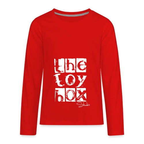 The Toy box Studio - White Logo - Kids' Premium Long Sleeve T-Shirt