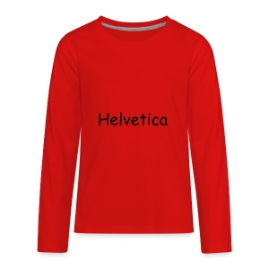 Swiss Font Revolution - Kids' Premium Long Sleeve T-Shirt