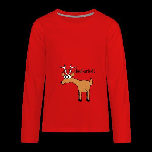 Hoof-arted? - Kids' Premium Long Sleeve T-Shirt