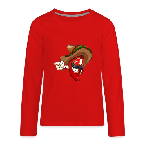 Slappy Pepper Logo - Kids' Premium Long Sleeve T-Shirt
