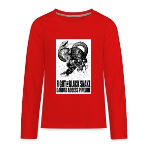 Fight the Black Snake NODAPL - Kids' Premium Long Sleeve T-Shirt