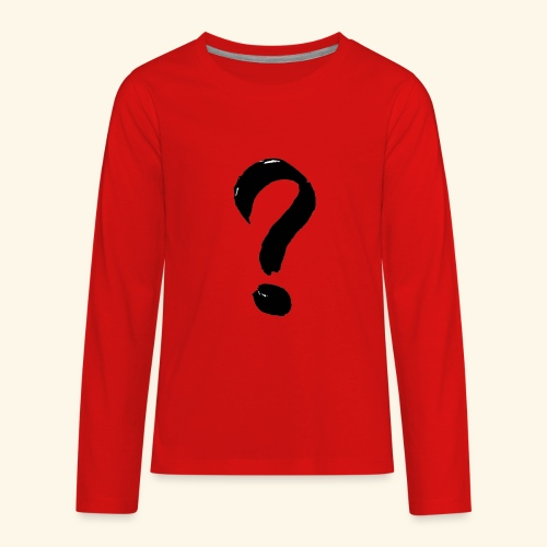 Question Mark T-shirt - Kids' Premium Long Sleeve T-Shirt