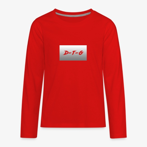 D-T-G White Design - Kids' Premium Long Sleeve T-Shirt