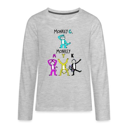 monkey see myk - Kids' Premium Long Sleeve T-Shirt