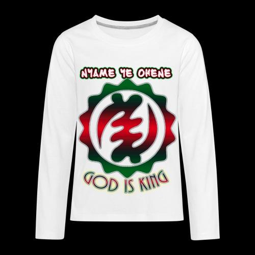 God is King Adinkra - Kids' Premium Long Sleeve T-Shirt