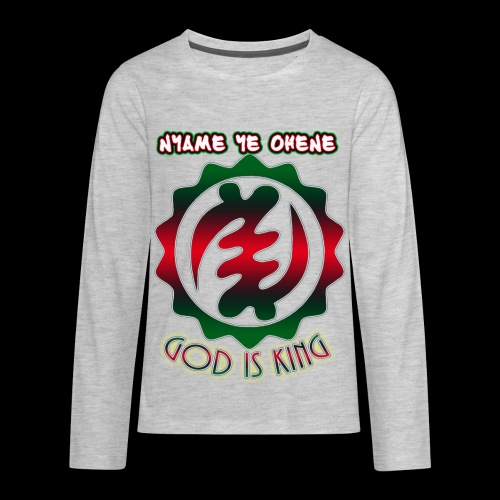 God is King Adinkra - Kids' Premium Long Sleeve T-Shirt