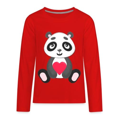 Sweetheart Panda - Kids' Premium Long Sleeve T-Shirt