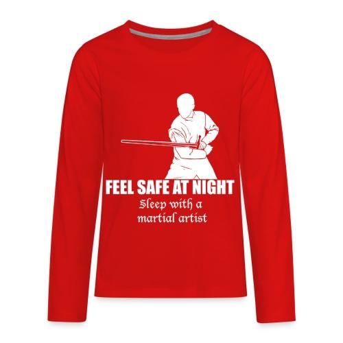 Feel safe male LS - Kids' Premium Long Sleeve T-Shirt