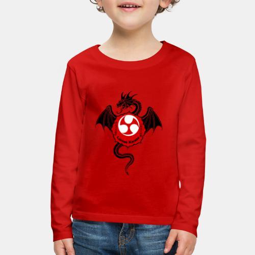 Dragon (B) - Larose Karate - Design Contest 2017 - Kids' Premium Long Sleeve T-Shirt